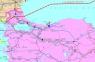 """22. Карта """"Газопроводы Черноморского и Средиземноморского бассейнов и юга Европы"""""""
