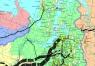"""17. Карта """"Магистральные газопроводы России и стран  ближнего зарубежья"""""""