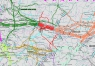 """18. Карта """"Магистральные газопроводы Европейской части России"""""""