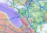 """19. Карта """"Нефтепроводы, нефтепродуктопроводы и газопроводы  России и стран ближнего зарубежья"""""""